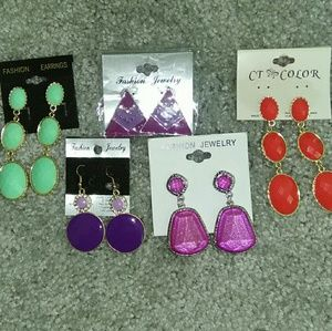 5 pairs of NBW fashion earrings